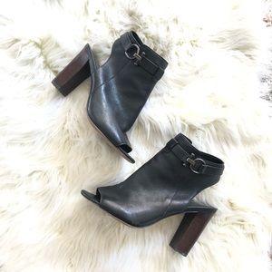 Coach • Leather Peep Toe Heels